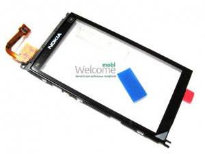 Сенсор NOKIA X6-00 с рамкой (оригинал), тач скрин для телефона смартфона, фото 2