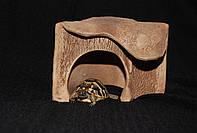Домик-укрытие. Грот угловой (маленький). Trixie 27К. 14х16х13 см. Для черепашки, ящерицы, змеи, паука и др.