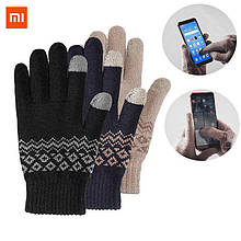 Перчатки FO touch screen warm velvet gloves blue