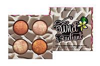 Палетка запечённых бронзаторов-илюминаторов Wild and Radiant BH Cosmetics Оригинал