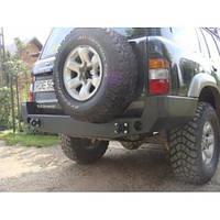 Бампер задний для Nissan Patrol Y61 (1998-2005 SWB / LWB)