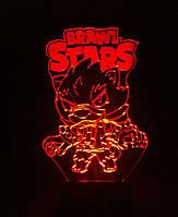 Ночник Brawl Stars, 3d светильник лампа, несколько подсветок