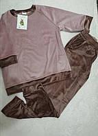 Р-р 44, 46, 48, 50,  Пижама женская велюровая, комплект домашний, костюм велюровый