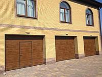Alutech (Алютех) серия ProPlus секционные гаражные ворота c калиткой ш3500×в2500