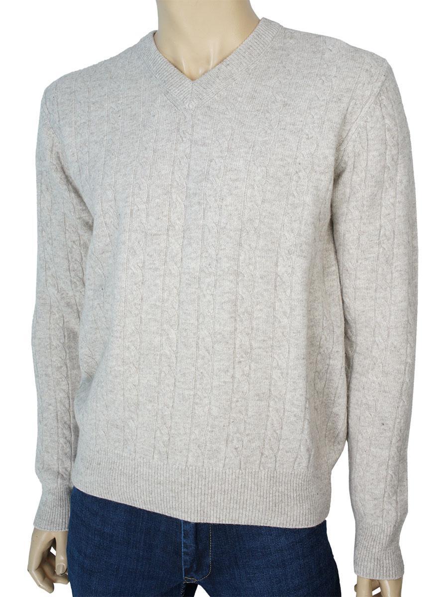 Світлий чоловічий светр Veli Yazar 3560-V A.Bej