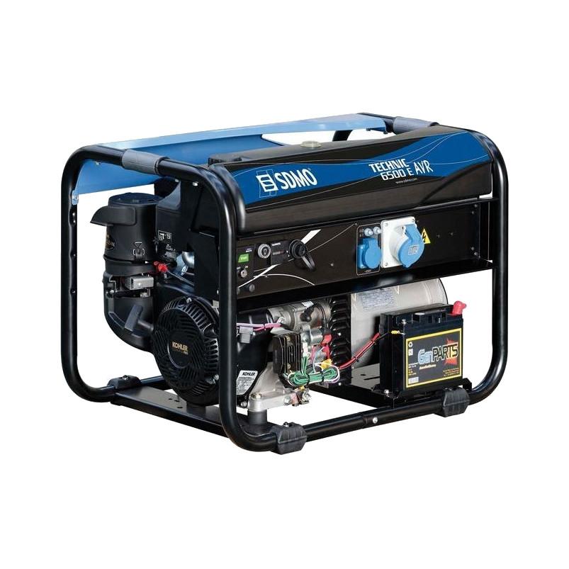 Однофазный бензиновый генератор SDMO Technic 6500 E (6,5 кВт)