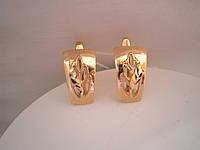 Золотые серьги алмазка 585 пробы