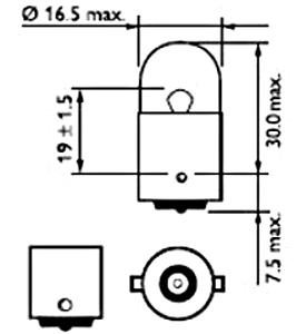 Светодиодная лампа в габарит SLP LED с обманкой под цоколь T4W(BA9S)  36 светодиодов типа  3014 9-30 В. Белый, фото 2