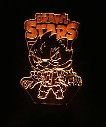 3d-светильник Leon, Бравел Старс, 3д-ночник, несколько подсветок (на батарейке), подарок мальчику