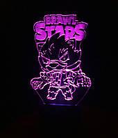3d-светильник Leon, Бравел Старс, 3д-ночник, несколько подсветок (батарейка+220В)