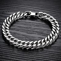 """Сталевий браслет """"Ланцюгової"""", розмір 20 см, ширина ланок 8 мм, фото 1"""