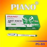 Ручка гелева Piano  0.5мм  PG-*811,зелений   ш.к.6938944300389