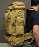 Тактический (туристический) рюкзак  на 70 литров Coyote ( ta70-coyote), фото 6