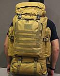Тактический (туристический) рюкзак  на 70 литров Coyote ( ta70-coyote), фото 9