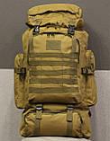 Тактический (туристический) рюкзак  на 70 литров Coyote ( ta70-coyote), фото 7