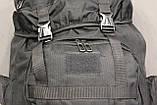 Тактический (туристический) рюкзак  на 70 литров Black (ta70-black), фото 3