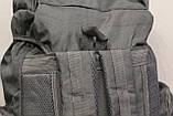 Тактический (туристический) рюкзак  на 70 литров Black (ta70-black), фото 4