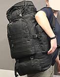 Тактический (туристический) рюкзак  на 70 литров Black (ta70-black), фото 5