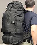 Тактический (туристический) рюкзак  на 70 литров Black (ta70-black), фото 6