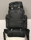 Тактический (туристический) рюкзак  на 70 литров Black (ta70-black), фото 8
