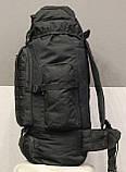Тактический (туристический) рюкзак  на 70 литров Black (ta70-black), фото 9