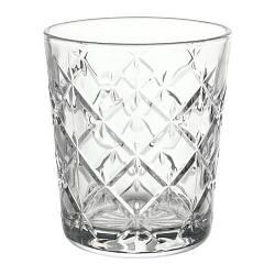 ИКЕА (IKEA) ФЛИМРА, 903.193.29, Стакан, прозрачное стекло, с рисунком, 28 сл - ТОП ПРОДАЖ