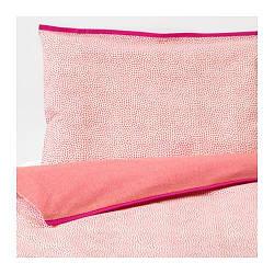 ИКЕА (IKEA) KLÄMMIG, 003.730.09, Комплект детского постельного белья, красный, 110x125/35x55 см - ТОП ПРОДАЖ