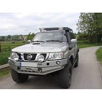 Бампер передний для Nissan Patrol Y61 GU4 (2005-2009)