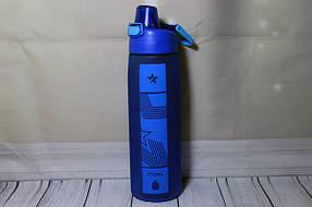 Шейкер пластиковый матовый спортивный 750 мл Helios (6928)