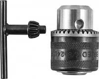 Патрон трёкулачковый, самозажмной, с ключем. Для дрели RAD1018 THORVIK RKS31018