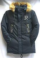 Мужская зимняя куртка OFF-WHITE черная оптом