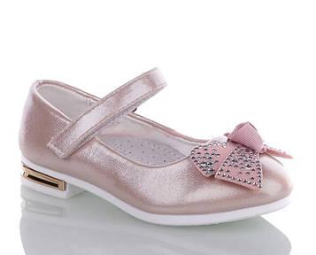 Туфли для девочки розовые на праздник 26-31