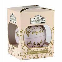 Чай Ahmad Tea в подарочной новогодней упаковке Розовый шар «Английский Завтрак» 01205