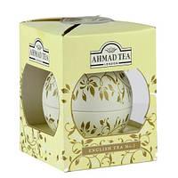 Чай Ahmad Tea в подарочной новогодней упаковке Белый шар «Английский No.1» 01206