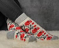 Шерстяные носки, теплые вязаные носочки, зимние женские носки, фото 1