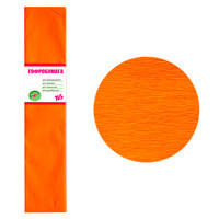Бумага гофр. флуоресц. оранжевая 20% (50см*200см)