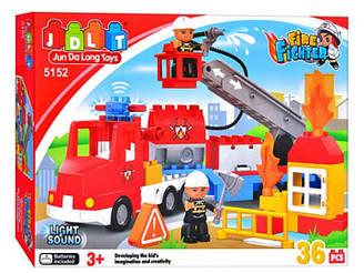 Конструктор JDLT 5152 Пожарная машина, 36 деталей