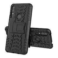 Чехол Armored для Huawei P Smart Pro противоударный бампер с подставкой черный