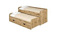 Кровать Соня 5. Кровать для двоих детей. Кровать компактная с двумя спальными местами. дуб тахо