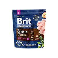 Brit Premium Dog Adult S 1 кг - Полноценный корм с курицей для щенков и молодых собак