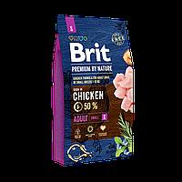 Brit Premium Dog Adult S 8 кг - Полноценный корм с курицей для щенков и молодых собак