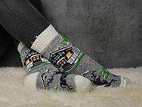 Шерстяные носки, теплые вязаные носочки, женские зимние носки, розмер 37-39, фото 1