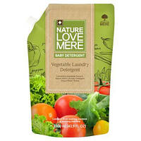 Гель для стирки детской одежды с экстрактом овощей, Nature Love Mere 1,3 л