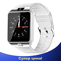 Умные часы Smart Watch DZ-09 White - смарт часы под SIM-карту и SD карту (Белые)