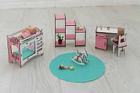 Мебель для кукольного домика Барби NestWood, бело-розовая (ДЕТСКАЯ)