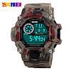S-Shok SKMEI Camouflage, мужские спортивные часы, цифровые, будильник, секундомер, водонепроницаемые