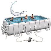 Каркасный бассейн прямоугольный Bestway 56465 (549x274x122) с картриджным фильтром