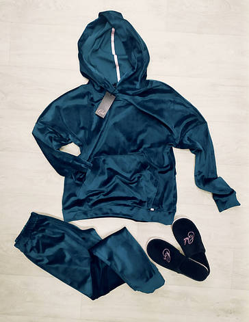 Роскошный костюм  худи и штаны для дома и отдыха, фото 2