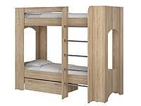 Кровать Дуэт 2. Кровать для двоих детей. Кровать двухъярусная. Кровать с двумя спальными местами., фото 1