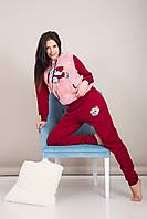 Домашний женский костюм с мишкой Турция, фото 2